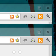 Before and After tweaking Chrome Aura settings