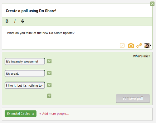 Creating a poll using Do Share