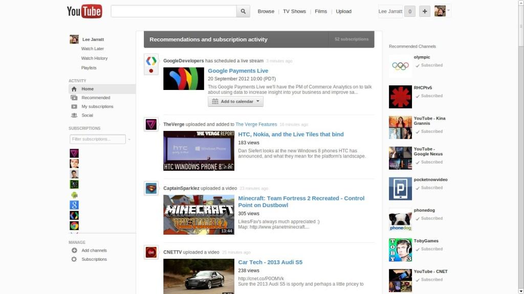 Google's YouTube Experiment in September