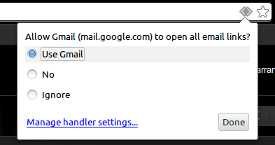 Enabling Gmail as your default Mail handler
