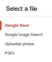 Select a file from your Google Drive