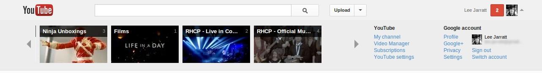 YouTube and Google Settings