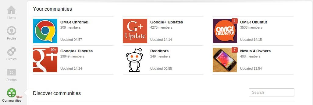 Communities on Google+
