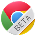 The logo for Chrome Beta for Android