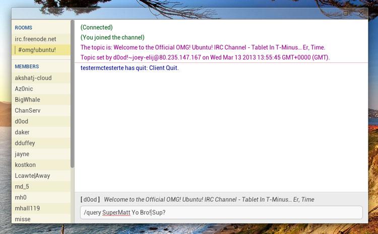 CIRC IRC Chrome