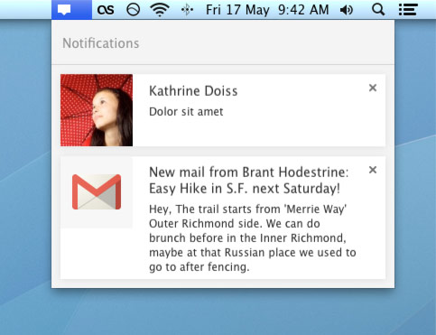 Chrome Message Center Arrives in Canary for Mac | OMG! Chrome!