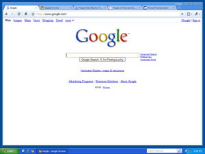 Google Chrome on Windows XP (Via Google Images)