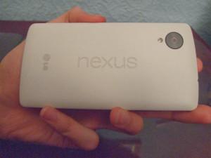 Back of the Nexus 5