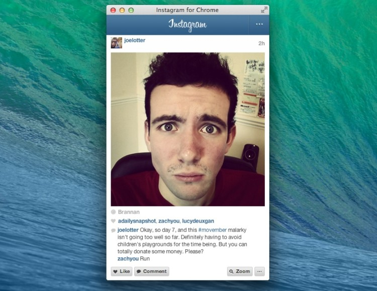 instagram for chrome popout