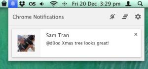 Desktop Twitter Notification Chrome