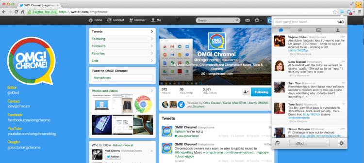 Twitter App for Chrome