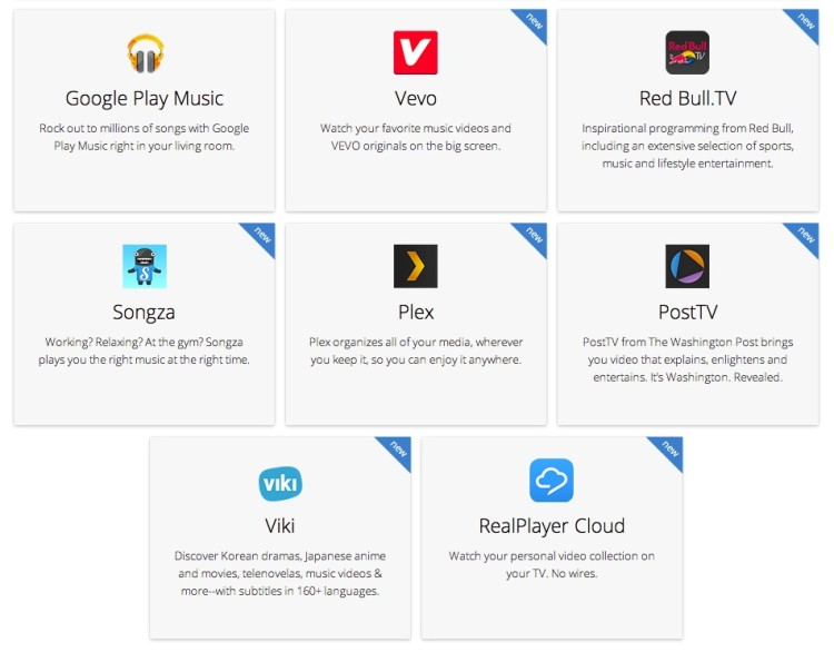Some of the new apps adding Chromecast support.