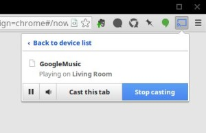 Play Music integrating perfectly with the extension.