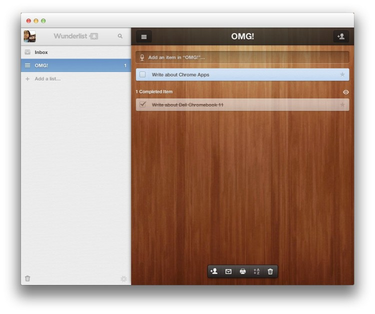 The Wunderlist Chrome App has the native look-and-feel down.