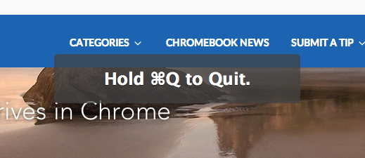 Double-Check: Chrome's HUD Alert