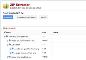 zip extractor for chrome