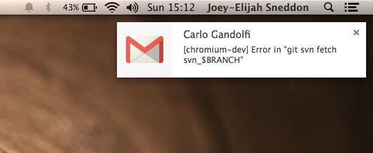 gmail notification on Mac