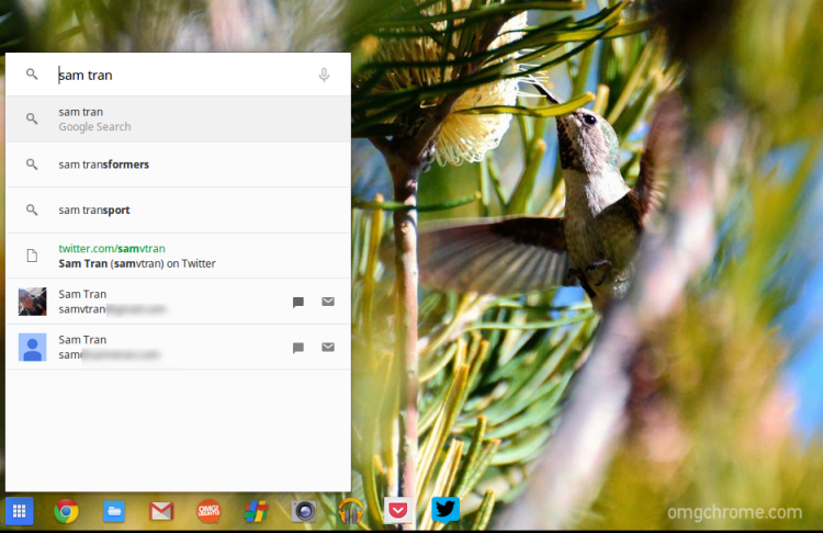 Contact Search in Chrome OS
