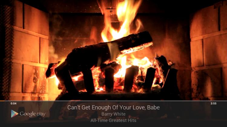 Chromecast Fireplace Visualiser for Google Music