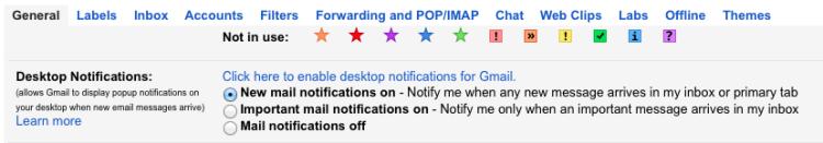 turn on gmail desktop alerts