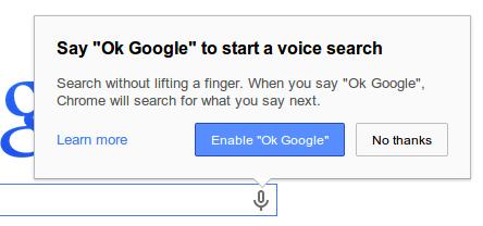 Ok Google Prompt Box