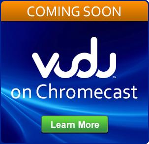 CHromecast Banner on Vudu Homepage
