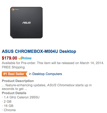 ASUS Chromebox Bestseller