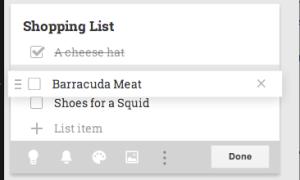Google Keep List Reordering