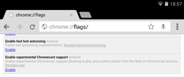 chromecast in android beta