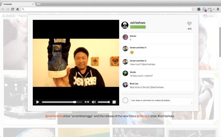 instatabs video