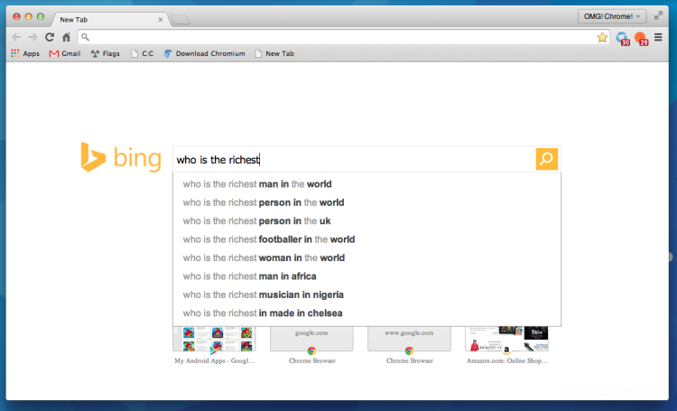 The custom 'New Tab Page' for Bing in Chrome is in development by Microsoft