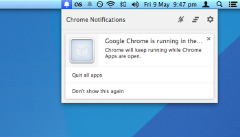 chrome running apps after quit on mac