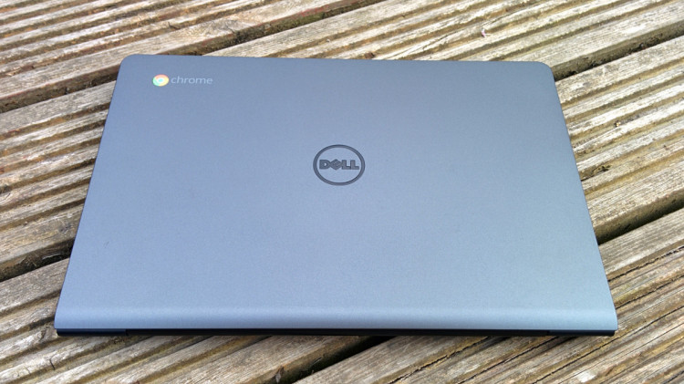 Back of the Dell Chromebook 11.