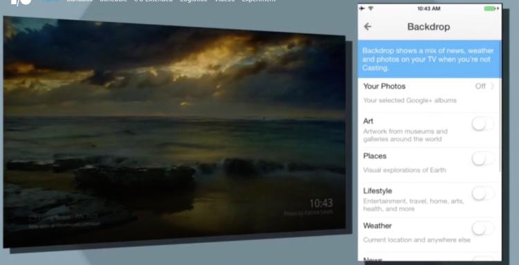 Google Chromecast backdrop