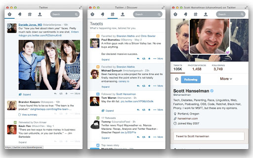 responsive twitter in chrome