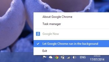 chrome background running