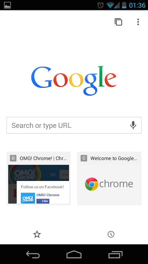 Toolbar Gone: the new welcome screen