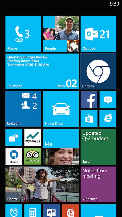 screenshot of windows phone chrome