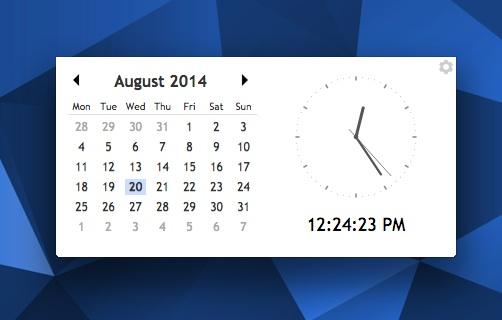 calendar clock chrome app