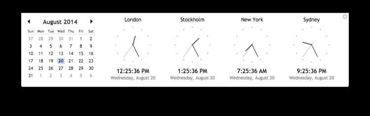 chrome app timezones