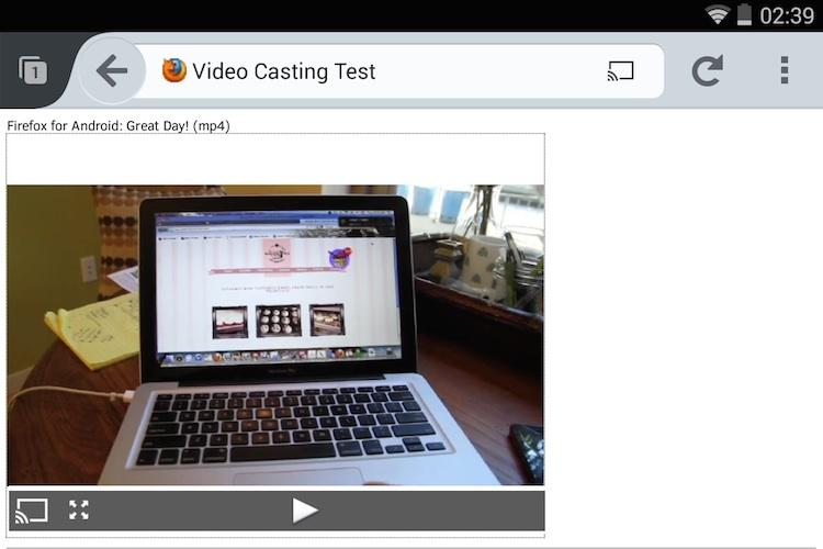 Firefox Chromecast Support
