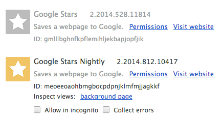 stars nightly extension