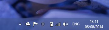 The bell icon used to remain visible at all times