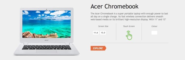 acer uk listing