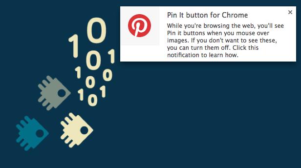 pinterest notification in chrome