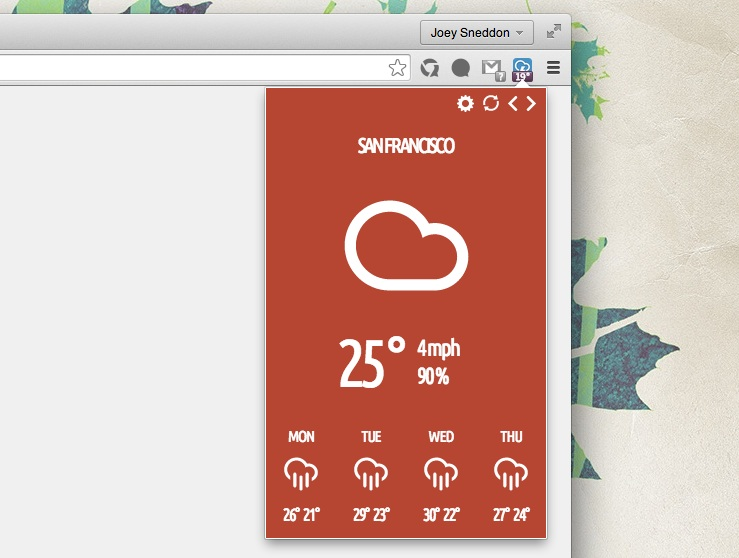 stormcloud extension for chrome