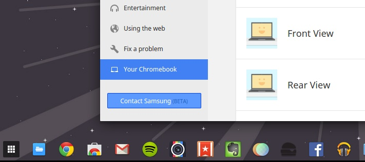 chrome os help button