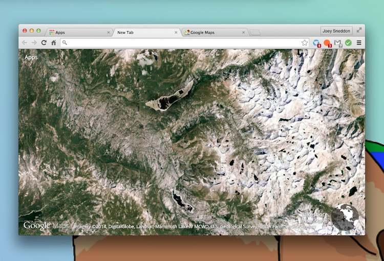earth view extension for chrome