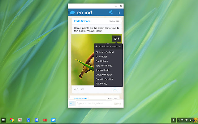 Remind on Chrome OS