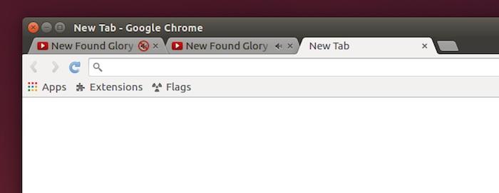 tab mute chrome option